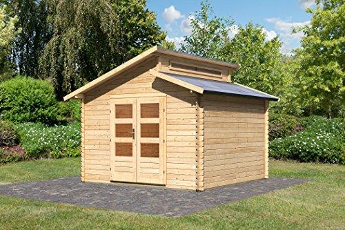 Karibu Gartenhaus Värmland 1 Blockbohle 28mm