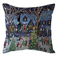 ADESHOP Christmas Cushion Cover, Xmas Gifts, Christmas Home Decor Office Sofa Cushion Square Throw Pillow Festive Pillowcase