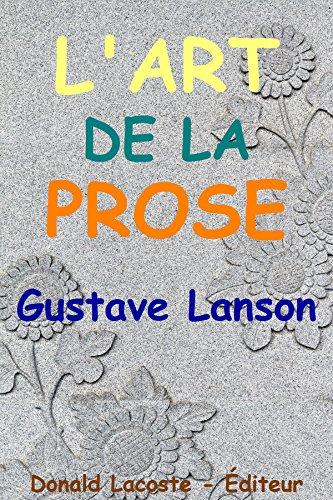 L'Art de la prose par Gustave Lanson