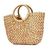 Sommer Strand Tasche, JOSEKO Damen Stroh Handtasche Sommer Schulter Tasche zum Strand Reise und...