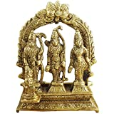 Elite Ram Darbar Statue - Lord Rama Laxman and Sita Religious Indian Art Statue/Showpiece/Decorative Brass Item/Home Décor/Office Decorative Items (7.6 x 2.5 x 7.9 cm)