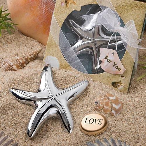 Set von 6 Starfish-Entwurfs-Flaschen-Öffner-Bevorzugungen - (2-Pack)