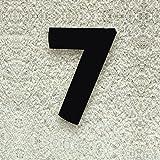 Colours-Manufaktur Hausnummer Nr. 7 - Schriftart: Modern - Höhe: 20-30 cm - viele Farben wählbar (RAL 9005 tiefschwarz (schwarz) glänzend, 20 cm)