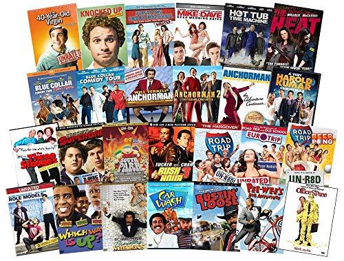 Ultimate Comedy 26 Film DVD Film Sammlung: Anchorman Trilogy, 40 Years Old Virgin, Knocked Up, Sarah Marshall, Harold & Kumar, Blue Collar, South Park, Three Stooges, Rush Hour, Pee-Wee, Richard Pry (Dvd-sammlung Kid)