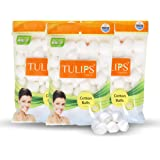 Tulips White Cotton Balls 50S (Pack Of 3)