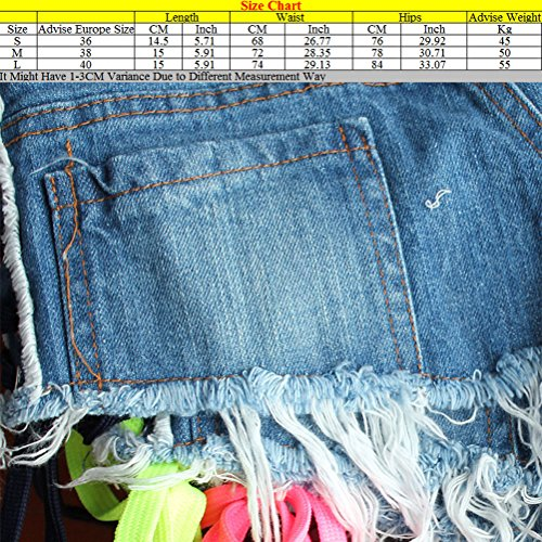 Zhuhaitf Designer Performance Ladies Party Distressed Shorts Pants Organizer Low Waist 3 Style für Frauen Blue&Pink