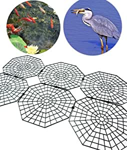 Good ideas pack of 30 black fish pond net protection for Decorative fish pond covers
