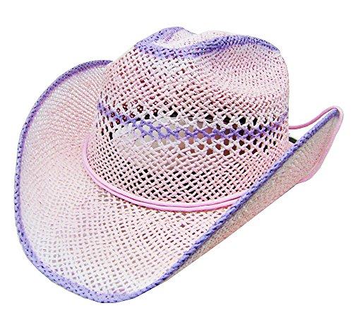 modestone-womens-cool-summery-straw-hat-pink