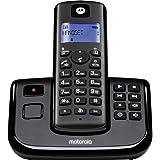 Motorola T211 Cordless Phone with Answering Machine, Digital Display, 200 Hr Standby, Speakerphone, 50 Contact Storage, 10 Ri