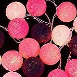 Zyurong 20 coton boule led lampes de chaîne lumière Chaine Chaude Guirlande Lumineuse Extérieure Pour Décoration de Chambre Mariage Fête Noël