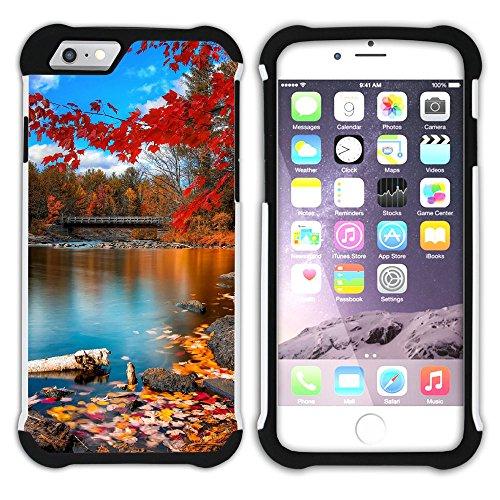 Graphic4You Herbst Leaves Bäume Postkarte Hart + Weiche Kratzfeste Hülle Case Schale Tasche Schutzhülle für Apple iPhone 6 Plus / 6S Plus Design #9