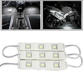Vheelocityin 9 LED Custom Cuttable Bike/ Car White Light for Interior/ Exterior