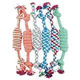 Dog Rope Chew Toy Set Clearance Hot Sale!Sold Separately,Challen Focuspet Puppy Toys Set Braided Rope Chew Toys Puppy Chew Durable Interactive Cotton Toys Dental Health Teeth Cleaning For Large Sized Dog Biting Toys (Just One Toy) (A)