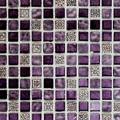 Mosaik Fliese Transluzent Lila Glasmosaik Crystal Resin Lila Lila Matt Für  WAND BAD WC DUSCHE KÜCHE FLIESENSPIEGEL THEKENVERKLEIDUNG  BADEWANNENVERKLEIDUNG ...
