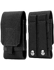 VANKER Ejército Camo Bolsa de cinturón para uso táctico de la pistolera del teléfono móvil del bolso -- Negro