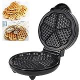 Euro Cuisine WM520 Heart Shapped Waffle Maker With Eco Friendly Non Stick Ceramic Coating (PTFE and PFOA Free Non Stick Plates)