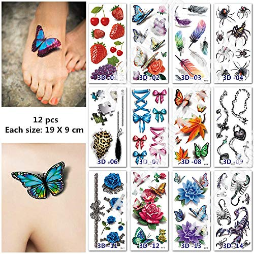 re Tattoos, Abdeckung Narben Tattoos, Kratzer Aufkleber, Schminke Scars Tattoo für Cosplay und Halloween Kostüm Makeup (1) ()