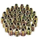 Hseamall 50pcs vis à six pans creux en alliage de zinc de M6 de M6 d'écrous filetés d'insertion pour des meubles en bois