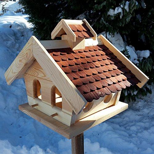 vogelhaus xxl mit holzschindeln und putzklappe lasiert vogelh user. Black Bedroom Furniture Sets. Home Design Ideas