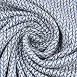 Bio-Jerseystoff Jacquard Grobstrick Hamburger Liebe Albstoffe Big Knit Knit grau blau 1,45m Breite