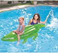Bestway Inflatable Pool Float, Crocodile Ride on Lilo Lounger