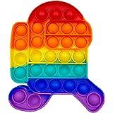 Funyplus Fidget Toy Pop Push Pop, Pop Bubble Jouet Anti-Stress sensoriel Relaxant. Jouet sensoriel, autisme. Squeeze, soulage