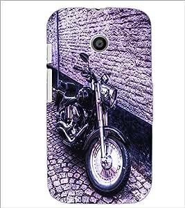 PrintDhaba Bike D-2839 Back Case Cover for MOTOROLA MOTO E (Multi-Coloured)