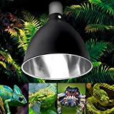 Sorliva Light Holder, Ceramic Heat UV UVB Lamp Light Holder Reptile Tortoise paralume con interruttore (14 x 14 cm)