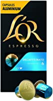 L'OR Espresso Coffee Decaffeinato Intensity 6 - Nespresso®* Compatible Aluminium Coffee Capsules - 10 packs of 10...