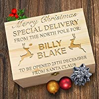 TWISTED ENVY Personalised North Pole Reindeer Wooden Christmas Eve Box