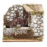 Holyart Mulino ad Acqua presepe cm 17x20x14 cm Legno Sughero