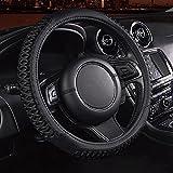 RISHIL WORLD 38cm Auto Car Steel Ring Wheel Cover Universal Soft Anti Slip Car Decoration Single Item.