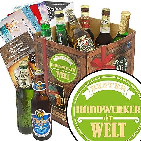 BESTER HANDWERKER DER WELT Biergeschenk Set mit