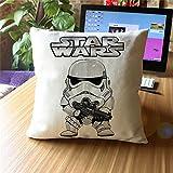 damuyas Star Wars Storm Trooper Leinen Überwurf Kissenbezug Sofa Deko, baumwolle, stormtrooper with gun, Size: 42*42cm/16.53*16.53