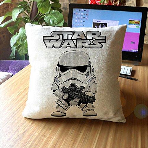 damuyas Star Wars Storm Trooper Leinen Überwurf Kissenbezug Sofa Deko, baumwolle, stormtrooper with gun, Size: 42*42cm/16.53*16.53 -