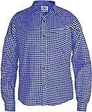 Camicia a quadri per costume bavarese tradizionale con Lederhosen Blau XL