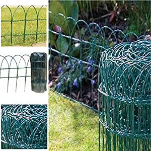 New 10m X 0 6m Green Pvc Cotted Coated Wire Netting Garden
