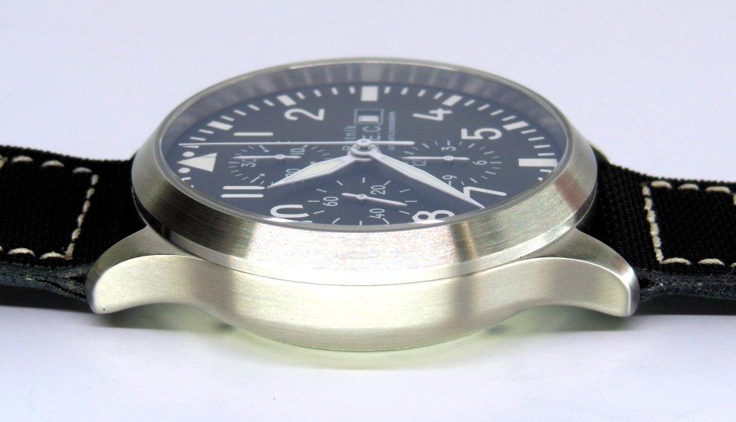Militar Automático Acero Cronógrafo Reloj Sumergible Mec Vintage Para Hombre TPuOkZiX