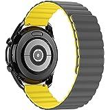 Tasikar 20 mm armband compatibel met Samsung Galaxy Watch 3 41 mm/Huawei Watch GT 2 42 mm armband, siliconen magneetsluiting