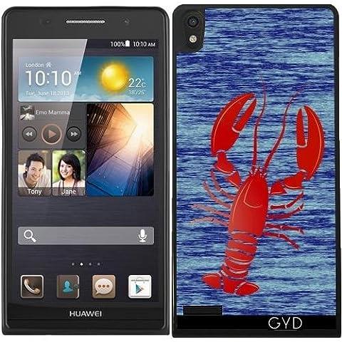 Custodia in silicone per Huawei Ascend P6 - Aragosta by (Lobster Personalizzato)