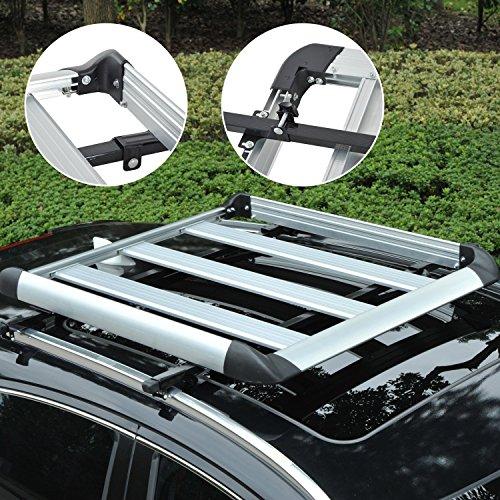 Outsunny Dach Tablett Plattform Rack Gepäck Box Carrier Universal Passform Transit W/Aluminium Legierung