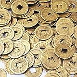 50pcs Feng Shui I- ching Münzen Design GlüCks-Buddha Glücksmünze Durchmesser: 20 mm (2.03 cm), Mit Geschenkbeutel, SKU: Y1020