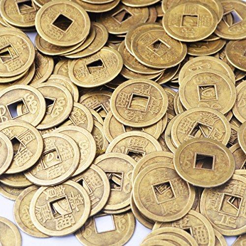 50pcs Feng Shui I- ching Münzen Design GlüCks-Buddha Glücksmünze Durchmesser: 20 mm (2.03 cm), Mit Geschenkbeutel, SKU: Y1020 -