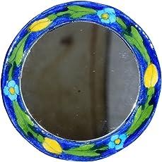 The Himalaya Craft Light Green & Ceramic Pottery Mirror