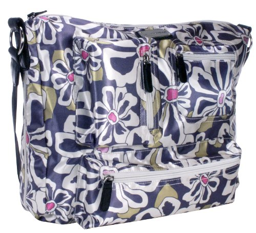 amy-michelle-iris-diaper-bag-charcoal-floral-discontinued-by-manufacturer