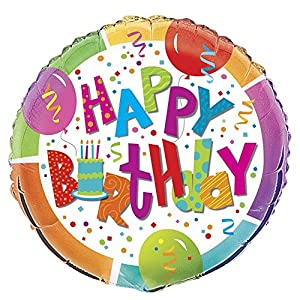 Ênico Industrias 27.187 18 cumpleaños Jamboree Foil Balloon paquete -. 240 St-ck