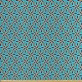 ABAKUHAUS Geometrisch Stoff als Meterware, Blume Gemustert,