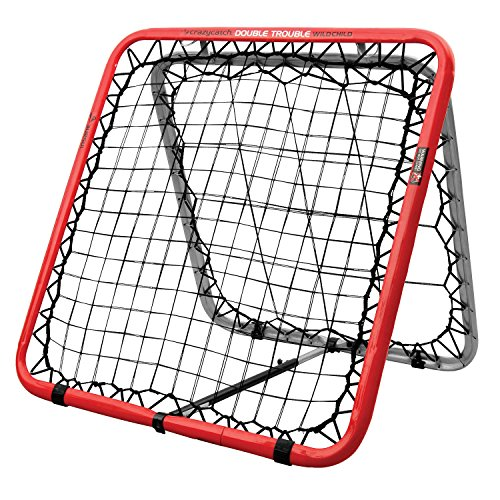 Crazy Catch Wildchild Double Trouble Rebounder Net - with 2 visionballs! (Yellow&Green) (93 x 93cm) Test