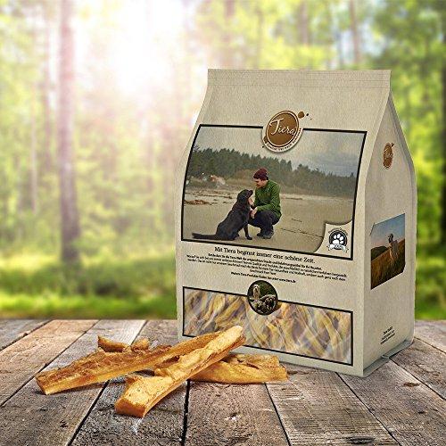 Tiera Natural Kausticks aus Rinderkopfhaut 400g | Gesunde Hundeleckerlie Rind | Kaustangen Hund -