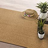 casa pura® Tiger Eye Pollution Free Sisal Runner Rug 80x200cm | Non-Slip Latex Backing, Natural - In 4 widths